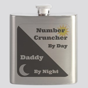 Number Cruncher by day Daddy by night Flask