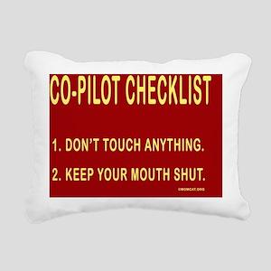 CoPilotMousepad Rectangular Canvas Pillow