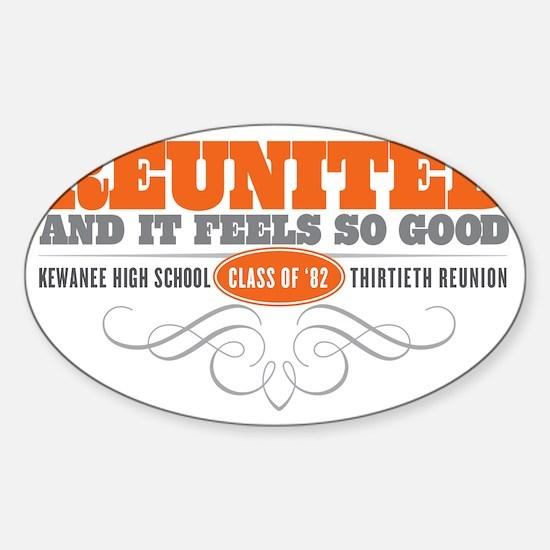Kewanee High School - 30th Class Re Sticker (Oval)