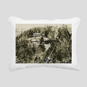 Red River Gorge Zipline Rectangular Canvas Pillow