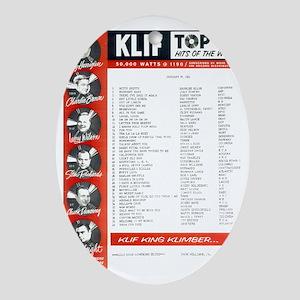 KLIF Playlist  (1964) Oval Ornament