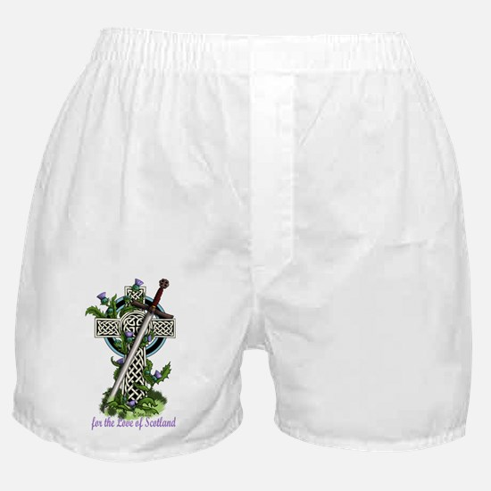 Claymore,Thistles and Cross Boxer Shorts