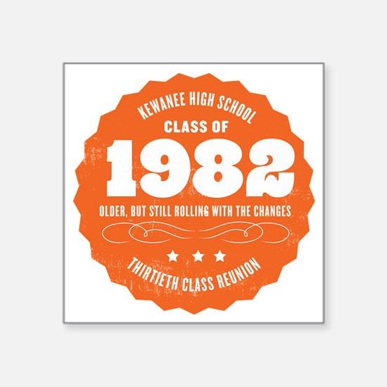 "Kewanee High School - 30th  Square Sticker 3"" x 3"""