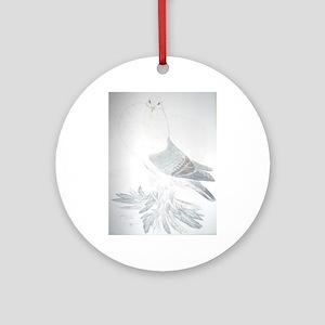 pomeranian pigeon Round Ornament