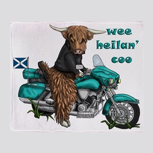 heilan coo Throw Blanket