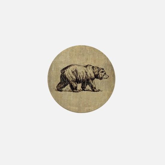 Vintage Bear Mini Button