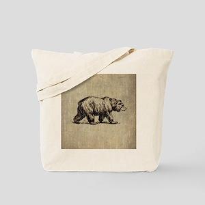 Vintage Bear Tote Bag