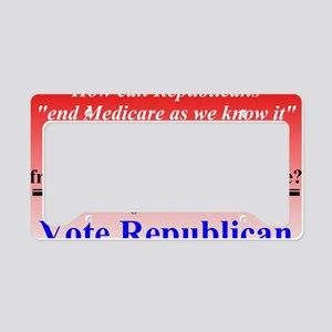 Medicare as We Know It License Plate Holder