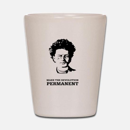Leon Trotsky: Permanent Revolution Shot Glass