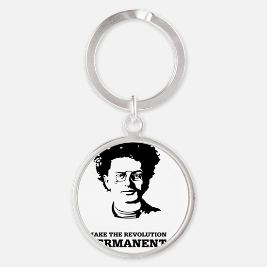 Leon Trotsky: Permanent Revolution Round Keychain