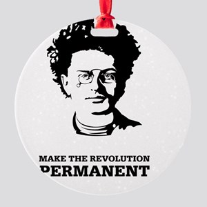 Leon Trotsky: Permanent Revolution Round Ornament