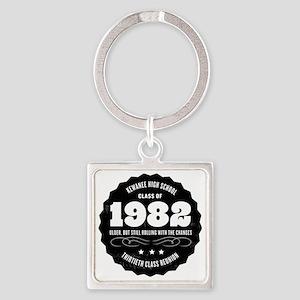 Kewanee High School - 30th Class R Square Keychain
