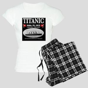 TG214x14BlackWideBorders Women's Light Pajamas