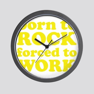 rockBornTo1E Wall Clock