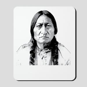 Chief Sitting Bull Says Shut Up Pilgrim! Mousepad