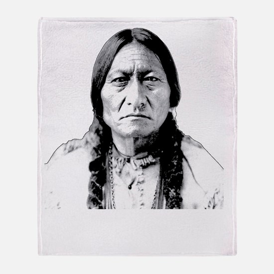 Chief Sitting Bull Says Shut Up Pilg Throw Blanket