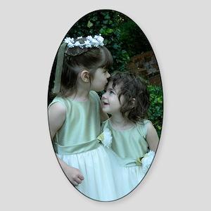 Flower Girls Sticker (Oval)