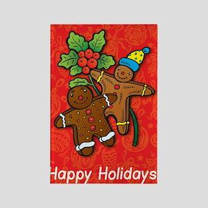 Gingerbread Men Rectangle Magnet