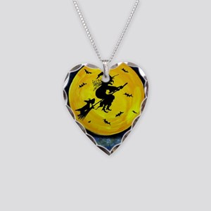 Scottie Moon  Halloween Witch Necklace Heart Charm
