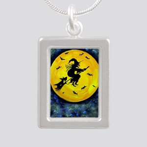 Scottie Moon  Halloween  Silver Portrait Necklace