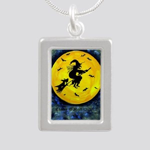 Scottie Moon and Hallowe Silver Portrait Necklace