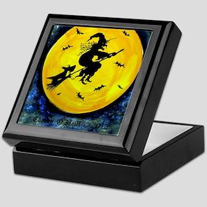 Scottie Moon and Halloween Witch Keepsake Box
