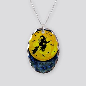 Scottie Moon and Halloween Wit Necklace Oval Charm