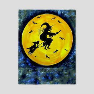 Scottie Moon and Halloween Witch Twin Duvet