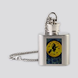 Scottie Moon and Halloween Witch Flask Necklace