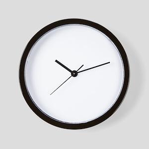 rockBornTo1B Wall Clock