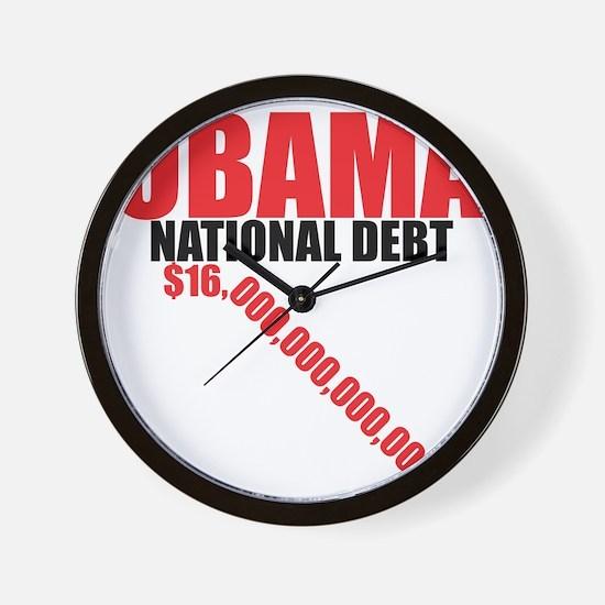 OBAMA NATIONAL DEBT Wall Clock