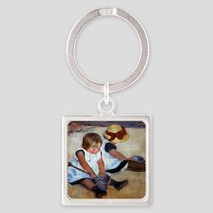 Mary Cassatt Square Keychain