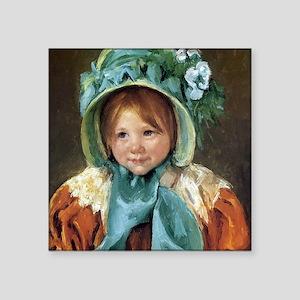 "Mary Cassatt Sara Square Sticker 3"" x 3"""