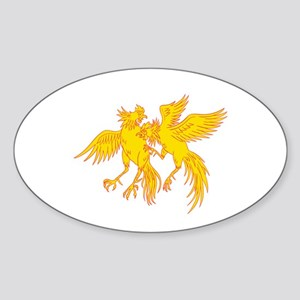 Cockfighting Roosters Cockerel Drawing Sticker