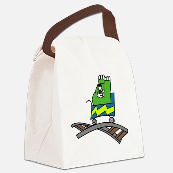 Roller Coaster Canvas Lunch Bag