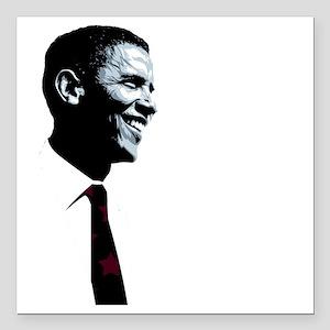 "Vote for Barack Obama -  Square Car Magnet 3"" x 3"""