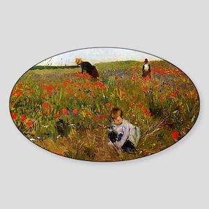 Mary Cassatt Sticker (Oval)