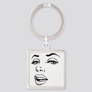Marilyn Square Keychain