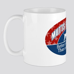 Mutts for Mitt Red BLue Mug