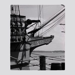 Jamestown Ship Throw Blanket