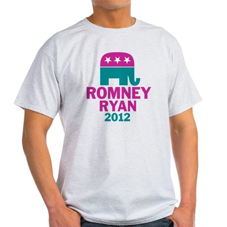 Romney Ryan GOP Elephant Light T-Shirt