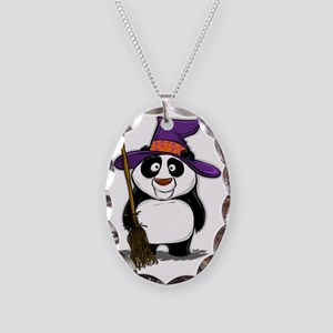 Panda Witch Necklace Oval Charm