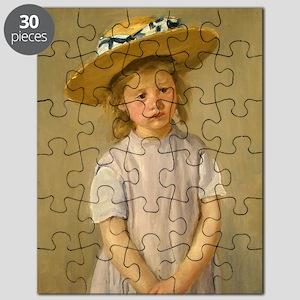 Mary Cassatt Child In Straw Hat Puzzle