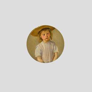 Mary Cassatt Child In Straw Hat Mini Button