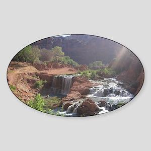 Rock Falls - Havasupai Reservation  Sticker (Oval)