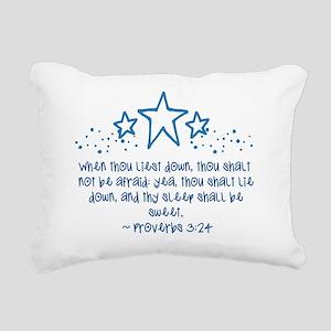 Proverbs 3:24 Rectangular Canvas Pillow