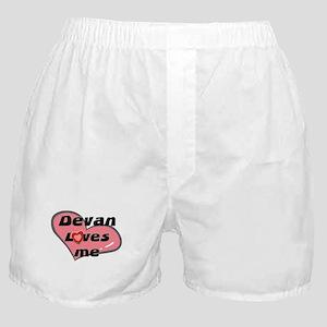 devan loves me  Boxer Shorts