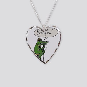 Egrets - I've Had a Few Necklace Heart Charm