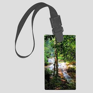 Erawan Falls - Erawan National P Large Luggage Tag