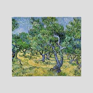 Van Gogh Olive Grove Throw Blanket
